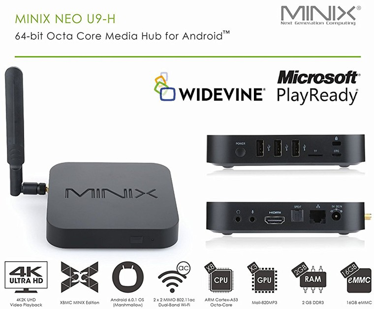 MiniX NEO U9-H Android TV Box 16GB/2GB
