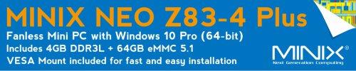 MINIX NEO Z83-4 Plus Banner