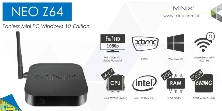 MINIX NEO Z64 Windows 10