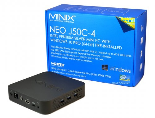 MiniX NEO J50C-4 Mini-PC mit Windows 10 Pro