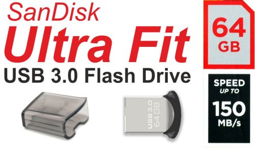 64GB Sandisk Ultra Fit USB 3.0 Flash Drive / USB-Stick