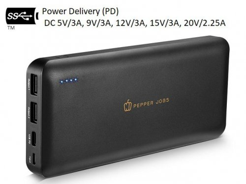 Pepper Jobs PD45W20L: 45W USB-C PD Powerbank