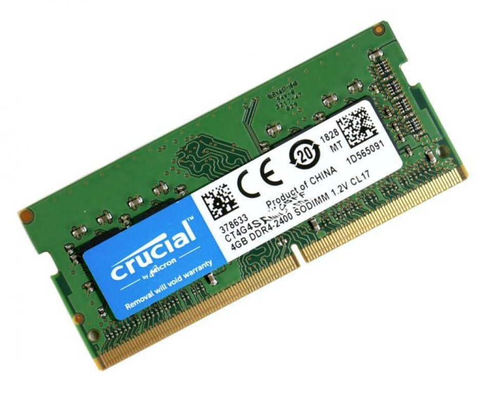 Crucial 4GB DDR4 SO-DIMM 260-Pin 2.400MHz | PC4-19200