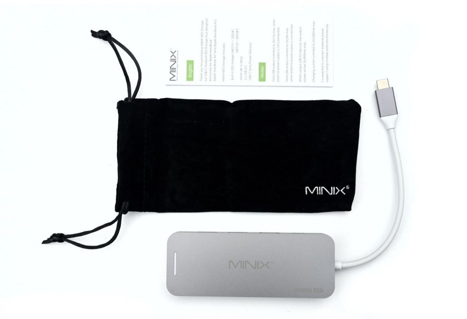 MINIX NEO Storage, USB-C Multiport Adapter, 240GB SSD