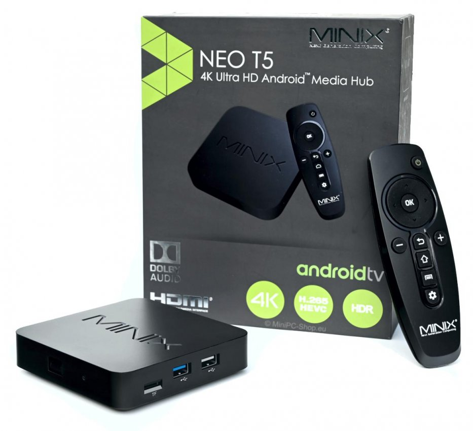 MiniX NEO T5 Android TV Box 16GB/2GB Packshot