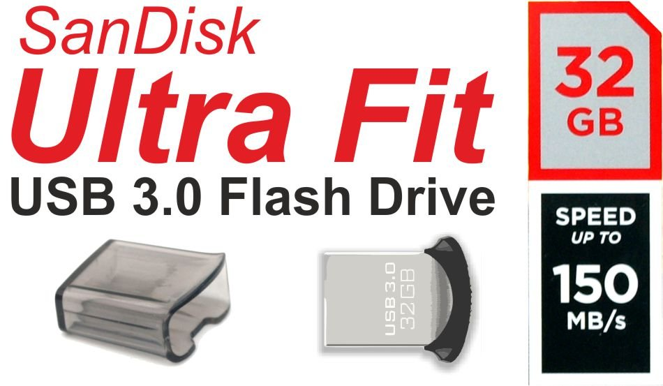 32GB Sandisk Ultra Fit USB 3.0 Flash Drive / USB-Stick